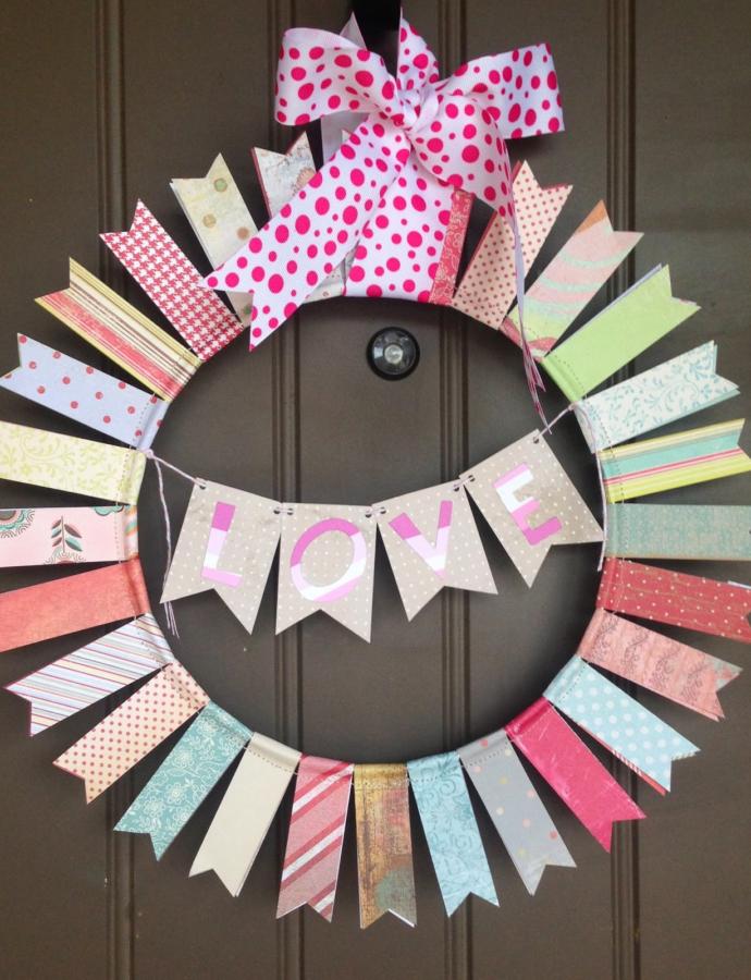 DIY: Valentine's Day Paper Wreath