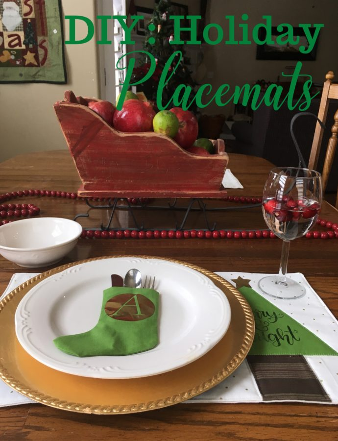 DIY: Holiday Placemat